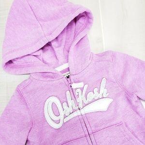 Oshkosh baby girls zip hoodie 6 Months ~ EA15